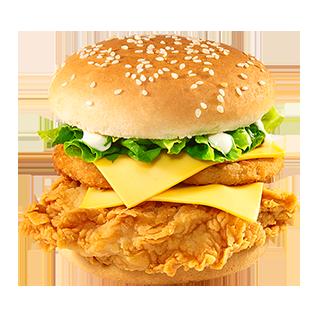 Double Ringer Fillet of Fire Burger