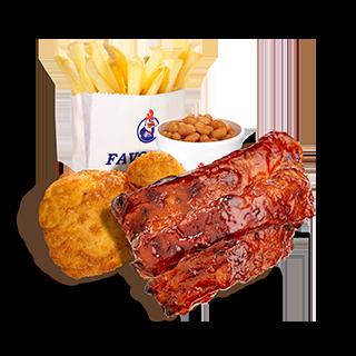 BBQ Rib Combo Meal