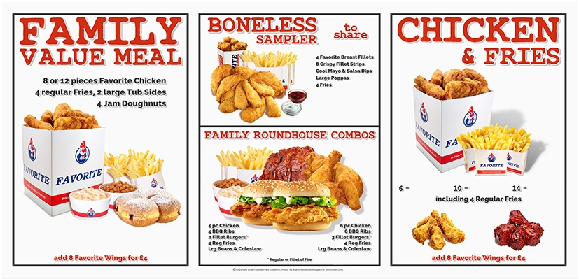 New Menu Design on its way to your Favorite
